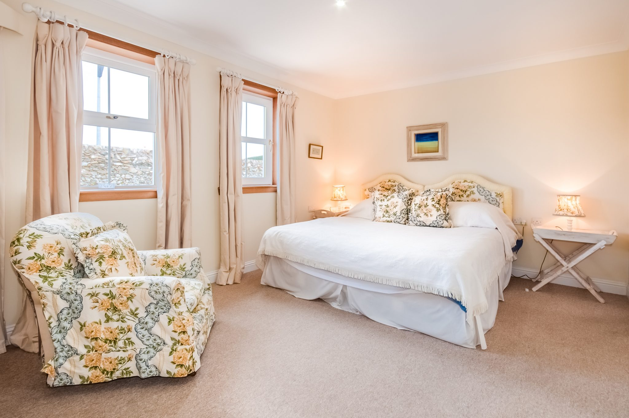 Double bedroom at Little Laight Cottage