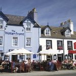 Enjoy a meal on the harbour at Portpatrick